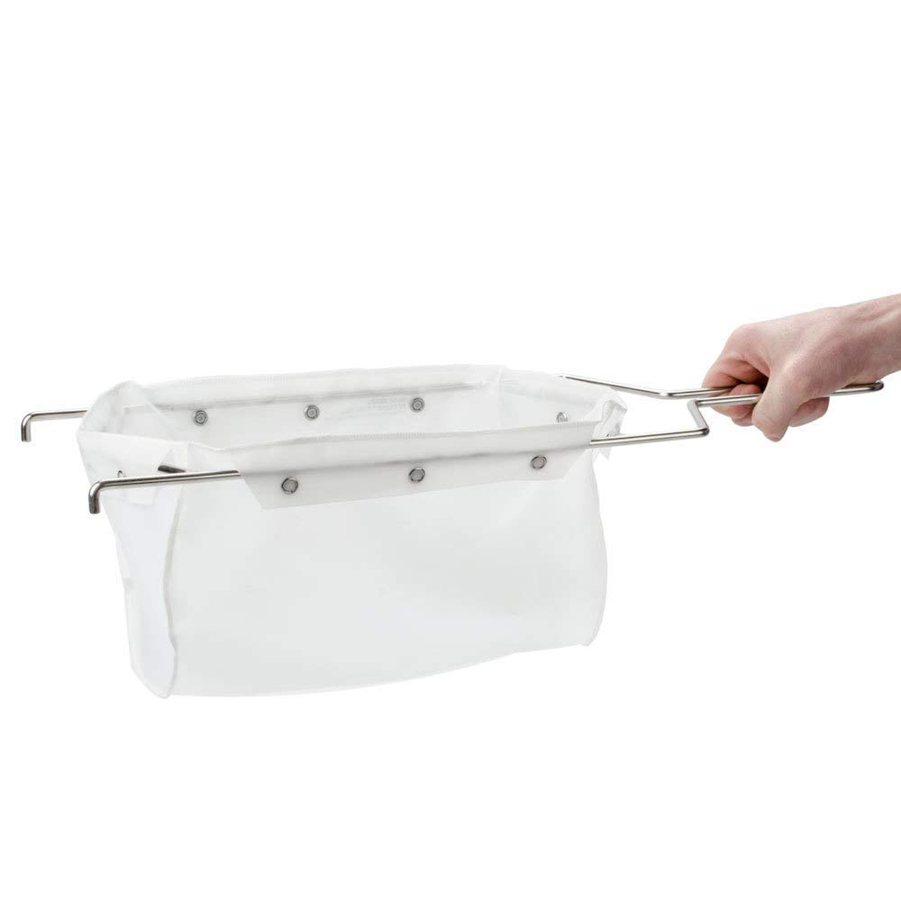 Miroil | B6PS Fryer Filter Bag & Frame | MirOil EZ Flow Filter Bag Combination | Part 02852| Use to Filter Fry Oil | Suitable for 70 lb Polishing Oil | Durable, Easy to Clean with Hot Water