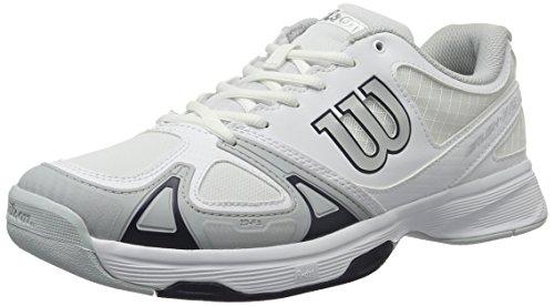 Wilson Wrs322230e115, Scarpe da Tennis Uomo, Bianco (White / Pearl Blue / Navy Wil), 46 2/3 EU