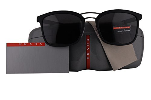 Prada Authentic Sunglasses PS03SS Black Rubber w/Grey Lens DG05S0 SPS03S - Sunglasses Prada Authentic