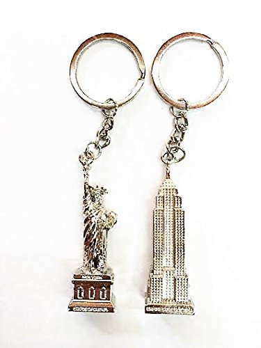 statue-of-liberty-empire-state-building-keychains-key-rings-metal