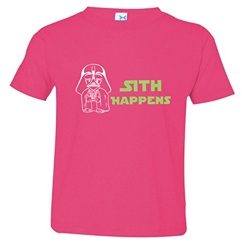 Boys Funny Star Wars Inspired Shirt, Sith Happens Shirt, Pink Size 2]()