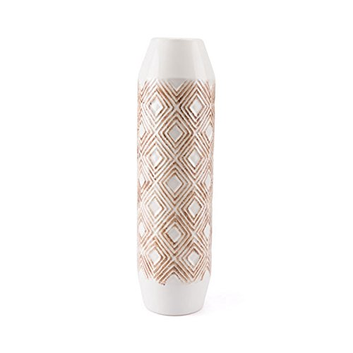 Large Zuo Toba Bottle White /& Brown Zuo Modern A10472