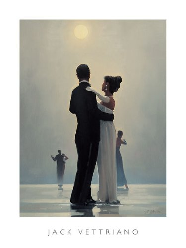 (Dance Me to the End of Love Jack Vettriano Romance Couples Dancing Poster, Overall Size: 23.5x31.5, Image Size: 21.75x26)