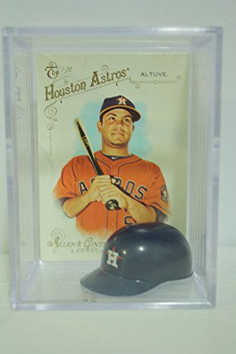 Jose Altuve Houston Astros Mini Helmet Card Display Collectible Topps Auto Shadowbox Autograph
