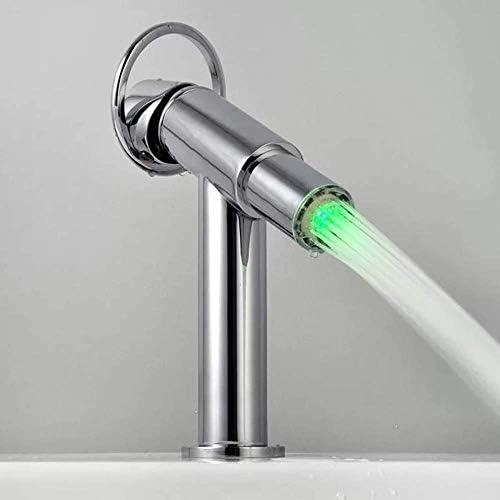DXX-HR 流域の蛇口フィルターアドバンスト口コアLEDライトの温度コントロールカラーのシャワーヘッド蛇口バスルームにはバスルームタップをタップ節水