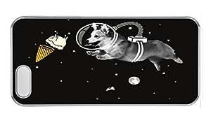 CORGI NAUT Custom iPhone 5c Case Cover Polycarbonate Transparent hjbrhga1544