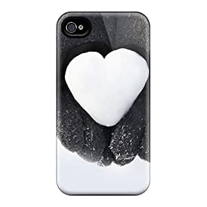 Ideal ConnieJCole Case Cover For Iphone 4/4s(snow Heart), Protective Stylish Case