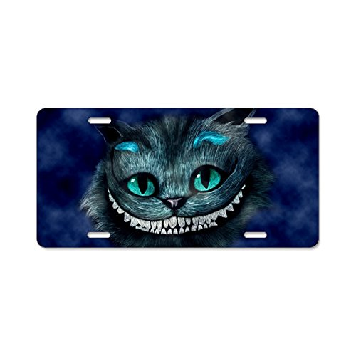 Nicholas Dunlop Plate Tag -Cheshire Cat Digital Art - Aluminum License Plate, Front License Plate, Vanity - Plate Cat Cheshire License
