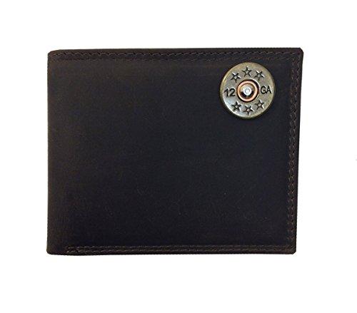 Passcase with Gun Shot Brown Wallet Products Light Zeppelin Emblem Shell qAwX0tq