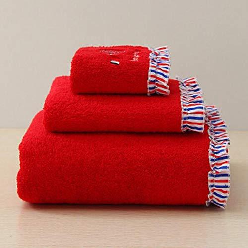 Znyo Juego de Toallas de baño Juego de 3 Toallas de baño Bordadas absorbentes Toallas de Mano Juego de Toallas de baño (Color : Azul): Amazon.es: Hogar