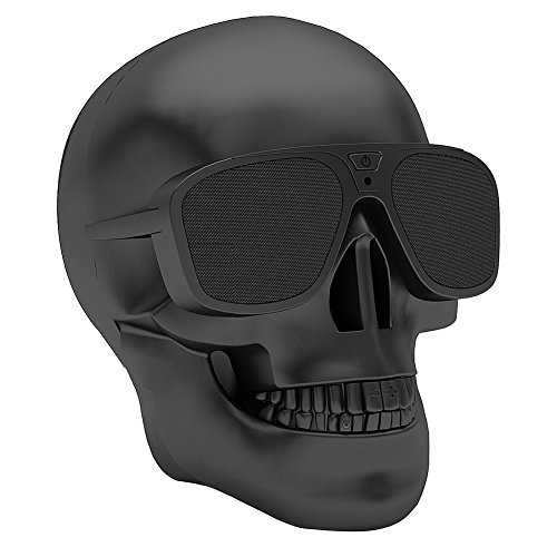 Halloween Hallowmas Christmas Skull Head Bluetooth Speaker Portable Wireless Bluetooth Audio Stereo Subwoofer Speaker for Mobile Phone MP3 MP4 PC Laptop, Halloween Christmas Creative Decorations Gifts