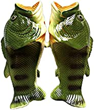 Creative Fun Slippers for Men and Women, Male Fish Slippers Summer Beach Shoes Soft Bottom Non-Slip Shower Ide
