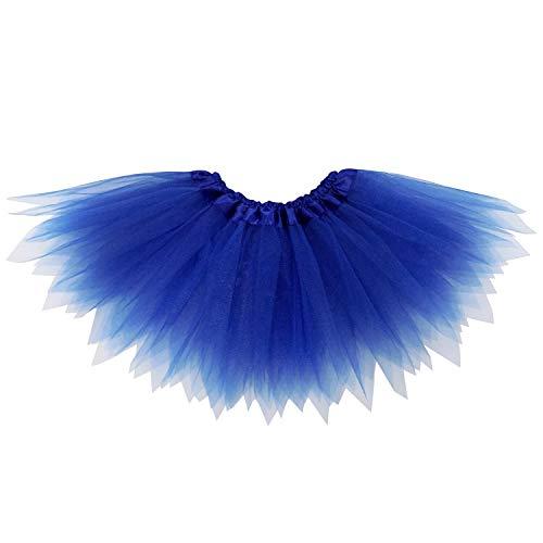 So Sydney Adult Plus Kids Size Pixie Fairy Tutu Skirt Halloween Costume Dress Up (M (Kid Size), Royal -