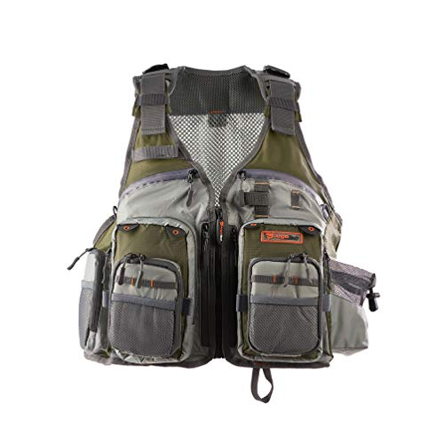 Anglatech Fly Fishing Vest Pack for Trout Fishing Gear and Equipment, Adjustable Size for Men and Women