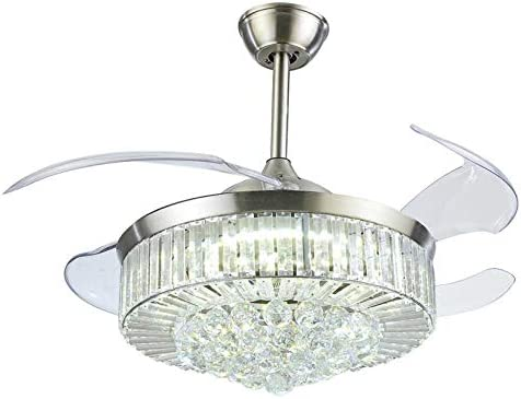 Sweety House 42″Crystal Ceiling Fan Light