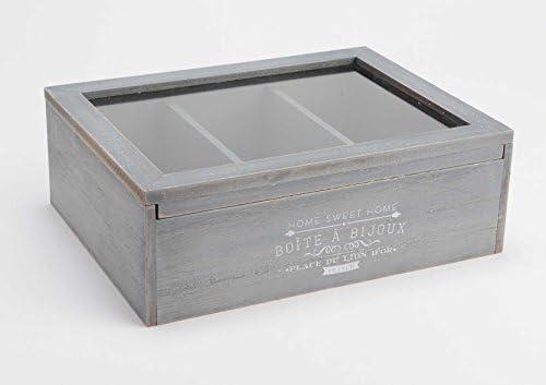 Amadeus Caja de Joyas – Joyero Madera Gris: Amazon.es: Hogar