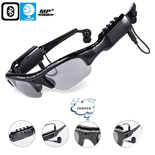 Averxi New PG Bluetooth Sunglasses Outdoor Sports MP3 Camera,KL339 Mini Dv Video Camera for Fishing,Driving,Riding,Motorcycle Camera Sunglasses Mp3 Player