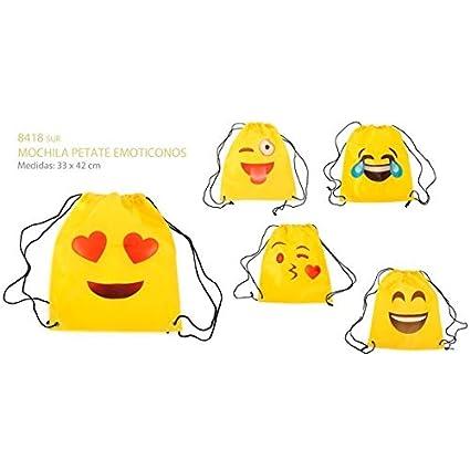 Vasara Mochila Petate Emoticonos - Mochilas Infantiles, Bolsas Escolares Niños, colegios. Regalos y Detalles para Niños, Cumpleaños y Comuniones