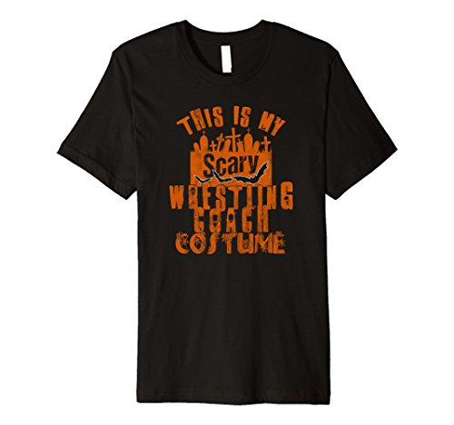 Mens This Is My Scary Wrestling Coach Tshirt Halloween Costume XL Black