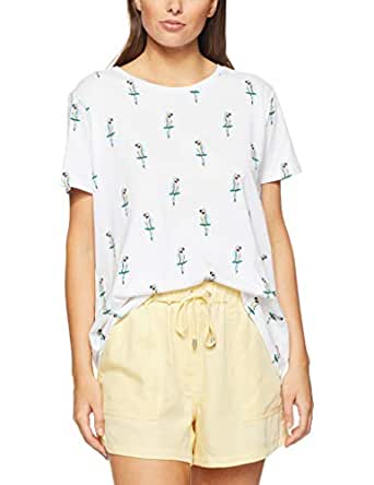 French Connection Women's GEO Parrot TEE, Summer White/Multi, Extra Small