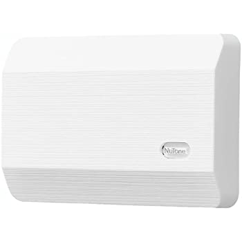 NuTone LA11WH Decorative Wired Two Note Door Chime, White Textured