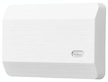 nutone la11wh decorative wired twonote door chime white textured