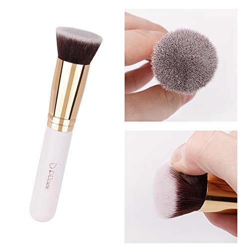 DUcare Foundation Makeup Brushes Kabuki Professional for Liquid Blending Mineral Powder Makeup Tools Gold
