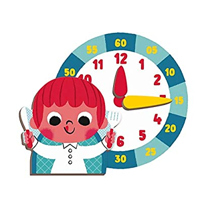 Janod MagnetiBook 94 pc Magnetic Tell The Time Game for Creativity and Motor Skills - Book Shaped Travel/Storage Case Included - S.T.E.M. Toy for Ages 3+: Toys & Games