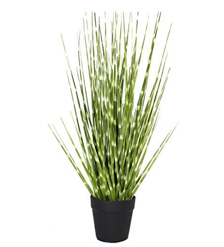 Hibuy Artificial Plant Zebra Green Grass 21