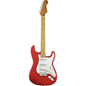 Fender 0131002340 Classic Series '50s Stratocaster Maple Fingerboard Electric Guitar – Fiesta Red
