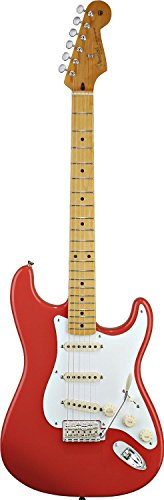 - Fender Classic Series 50s Stratocaster Electric Guitar with Maple Fingerboard - Fiesta Red