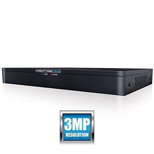 Night Owl X3 3MP DVR 8 Channel Extreme HD, Black (DVR-X3-8)