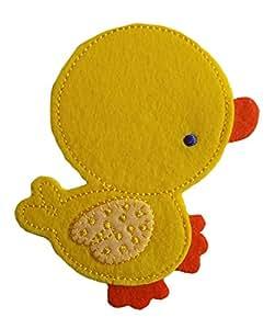 Especialmente bebé grande amarillo pato bordado hierro en Applique