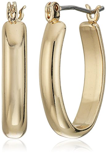"Napier ""Classics"" Gold-Tone Small Click It Hoop Earrings"