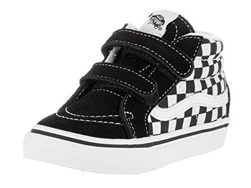 Vans Kids Unisex Sk8-Mid Reissue V (Toddler) (Checkerboard) Black/True White Sneaker 6 Toddler (Action Reissue)