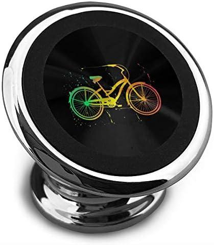 水彩自転車 携帯電話ホルダー おしゃれ 車載ホルダー 人気 磁気ホルダー 大きな吸引力 サポートフレーム 落下防止 360度回転