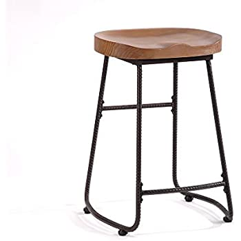 Contoured Saddle Seat 24-Inch Backless Bar Stool Chair for Home Kitchen Island or Counter  sc 1 st  Amazon.com & Amazon.com: Contoured Saddle Seat 24-Inch Backless Bar Stool Chair ... islam-shia.org