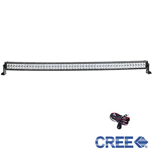 Generic 52 Inch 500W DC10-30V Flood Cree Led Curved Light Bar for 4WD off Road Truck Boat Free Wiring Harness