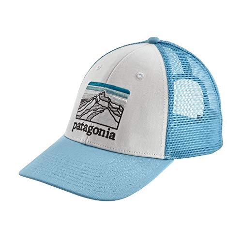 Patagonia Line Logo Ridge LoPro Trucker Hat (White w/Breakup Blue)