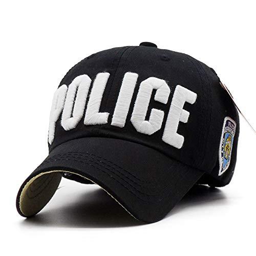 Luxury Embroidery Police Baseball Cap 100% Cotton Parent-Child Hat Girl Boys Casual Sun Men Bone Fashion Caps
