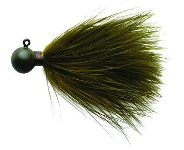 Eagle Claw Marabou Jigs, Ginger Finish, 1/4 oz