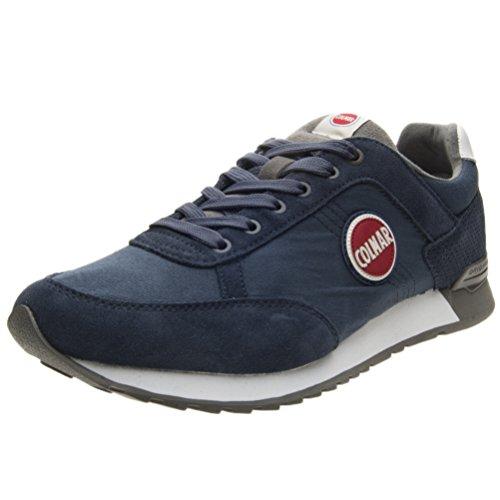 Gray Navy Mesh Travis Scarpe Uomo Suede Colmar 005 Dk Colors Sneakers XqAxw1fw