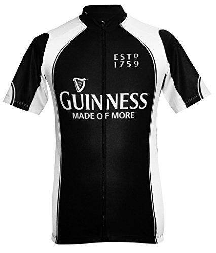 Guinness Short Sleeve Performance Bike Shirt with Full Zip and Sublimated Graphics (Guinness Cycling Jersey compare prices)
