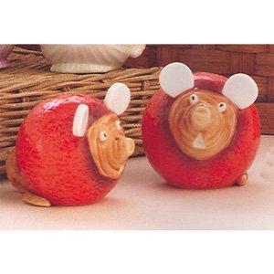Home Grown Beetroot Mice Salt & Pepper Shakers