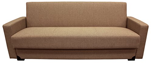 Hodedah Import Gracia Brown Sofa Converts To Bed Price