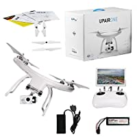UPair One Drone with 2.7K HD Camera, 5.8G FPV Monitor Transmit Live Video, 2.4G Remote Controller, GPS Auto Return Function, a key to Return, Beginners Quadcopter Drone