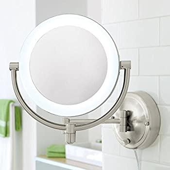 Amazon Com Brookstone 10x 1x Natural Light Wall Mirror