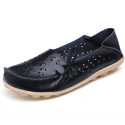 Comfity Shoes for Women Womens Flats Driving Moccasins Loafers Slip-On Flat Black mJItZidQY