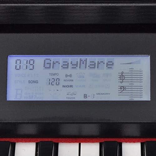 vidaXL Piano Eléctrico Digital 88 Teclas con Pedales Tablero de Melamina Negro