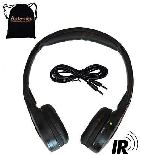 Autotain Autotain-Cloud 2 Channel KID SIZE Universal IR Infrared Wireless or Wired Car Headphones  Cloud Wired Wireless Car
